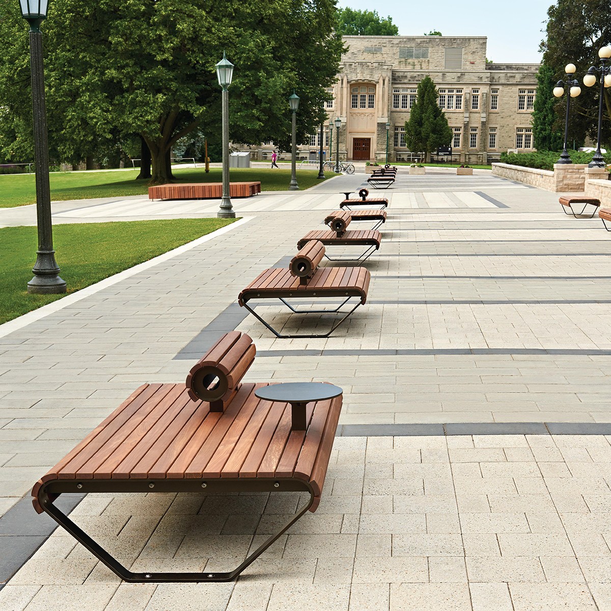 Benches-paving-stones-pathway